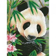 panda prince - diamond dotz intermediate dd7.040 30x40cm
