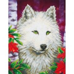 white wolf - diamond dotz intermediate dd7.007 35.5x47.5cm