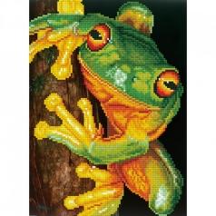 green tree frog - diamond dotz intermediate dd7.031 27x37cm