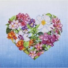 flower heart - diamond dotz intermediate dd7.008 37x37cm