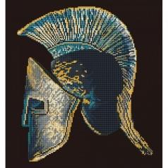 spartan symbol - diamond dotz intermediate dd7.038 41x44cm