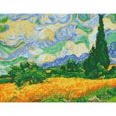 wheat fields van gogh - diamond dotz intermediate dd9.024 50.8x39cm