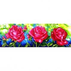 les roses du jardin - diamond dotz intermediate dd9.014 82x27cm