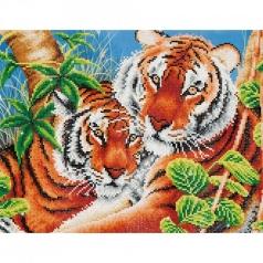 tender tigers - diamond dotz intermediate dd10.004 42x52cm