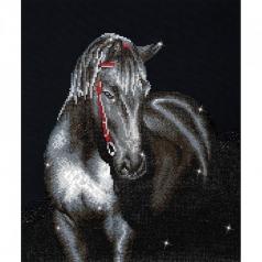 midnight stallion - diamond dotz intermediate dd10.012 42x53cm