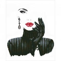 lady in black - diamond dotz intermediate dd10.022 42x52cm