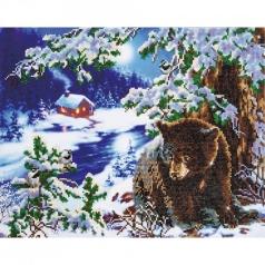 rambling bear - diamond dotz intermediate dd10.001 52x38cm