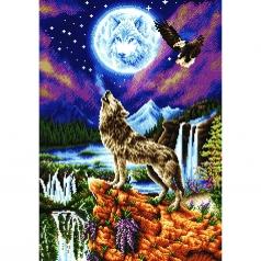 mystic wolf - diamond dotz intermediate dd12.028 47x67cm