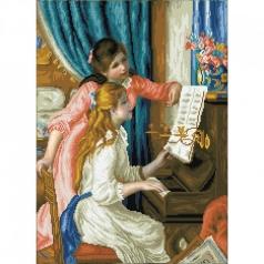 girls at the piano renoir - diamond dotz intermediate dd12.034 48x66cm