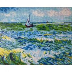 seascape at saint maries van gogh - diamond dotz intermediate dd12.029 63x53cm