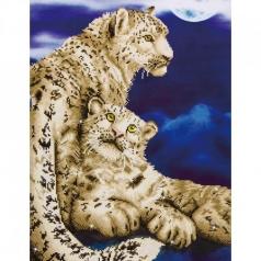 snow leopards - diamond dotz intermediate dd12.004 52x77cm