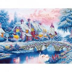 winter village - diamond dotz intermediate dd12.010 79x50cm