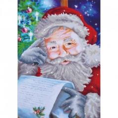 santa wish list - diamond dotz intermediate dd12.024 50x72cm
