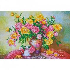 elegant roses - diamond dotz intermediate dd12.023 67x47cm