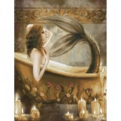 bath time mermaid - diamond dotz intermediate dd12.037 52x68cm