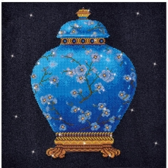 blue vase - diamond dotz intermediate dd12.020 52x52cm