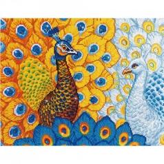 romantic peacocks - diamond dotz intermediate dd12.014 57x49cm