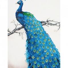 blue peacock - diamond dotz advanced dd13.012 60x84cm