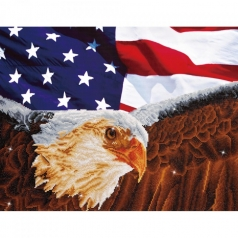 bald eagle and flagblue - diamond dotz advanced dd13.003 71x56cm