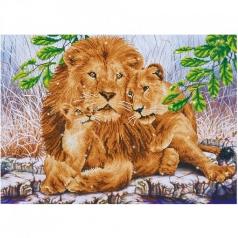 lion family - diamond dotz advanced dd13.017 77x55cm