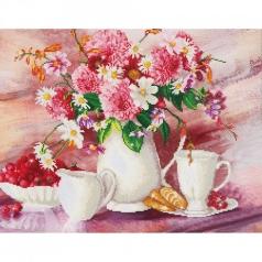 romantic tea time - diamond dotz advanced dd13.002 72x56cm