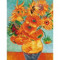 sunflowers van gogh - diamond dotz advanced dd13.011 56x71cm