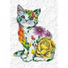 flower puss - diamond dotz advanced dd13.021 55x78cm