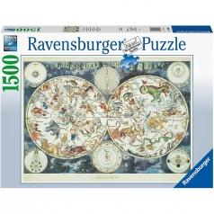 mappa del mondo degli animali - puzzle 1500 pezzi