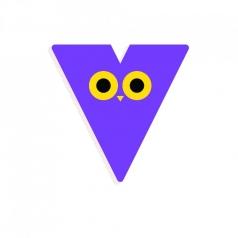 lettera in legno - v