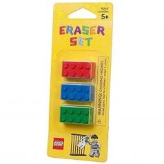 3 gomme da cancellare lego colorate