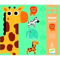 puzzle progressivo - nella giungla 3/4/5/6 pz