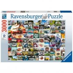 99 vw bulli moments - puzzle 3000 pezzi
