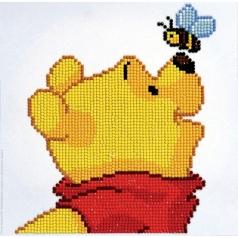 pooh with bee - diamond dotz cd854300105 22x22cm