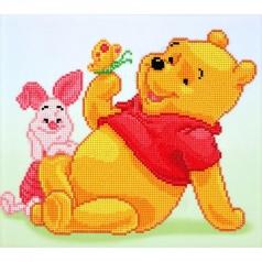 pooh with piglet - diamond dotz cd854300305 36x32cm