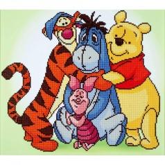 pooh and friends - diamond dotz cd854300210 47x42cm