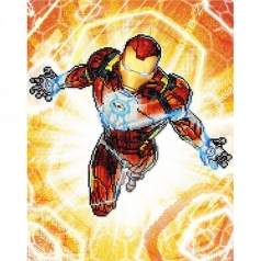 iron man blast off - diamond dotz cd130500110 42x53cm