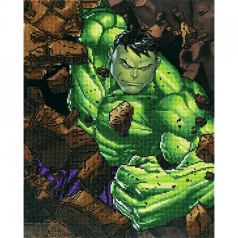 hulk smash - diamond dotz cd130500210 42x53cm