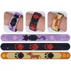 braccialetti animali - diamond dotz set da 3 braccialetti