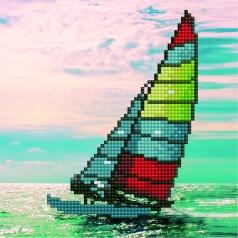 sailboat - diamond dotz beginner 50465 20,32 x 20,32cm