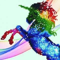 rainbow ombre unicorn - diamond dotz beginner 50484 20,32 x 20.32cm