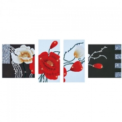 art deco poppies - diamond dotz advanced dd14.002 142x50cm