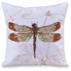 dragonfly earth - diamond dotz advanced dd16.001 cuscino 45x45cm
