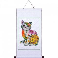 flower puss scroll - diamond dotz advanced dd17.005 41,4x61,2cm