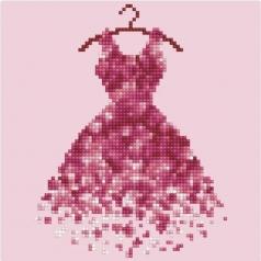 red dress - diamond dotz beginner 49290 22x22cm