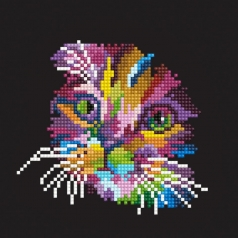 colorful cat - diamond dotz beginner 50460 20,32x20,32cm