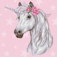 unicorn - diamond dotz intermediate 49298 32x32cm