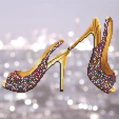 high heels - diamond dotz intermediate 49302 32x32cm
