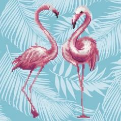 flamingo duo - diamond dotz intermediate 49353 32x32cm