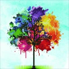rainbow tree - diamond dotz intermediate 50456 30,48x30,48cm