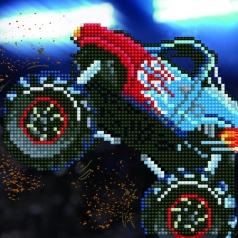 monster truck - diamond dotz beginner 50488 20,32 x 20,32cm
